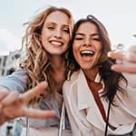 Two Fun Women Posing