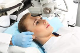 Woman getting LASIK